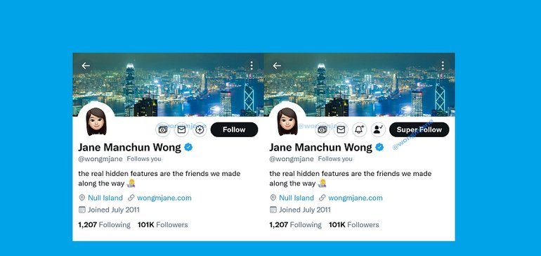 Twitter Tests New 'Super Follow' and Tipping Buttons for Profiles