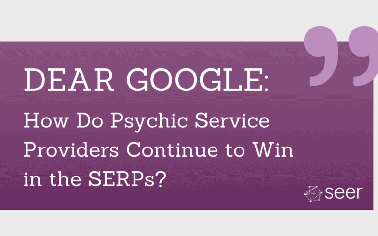 Dear Google, What Should Psychics Do?