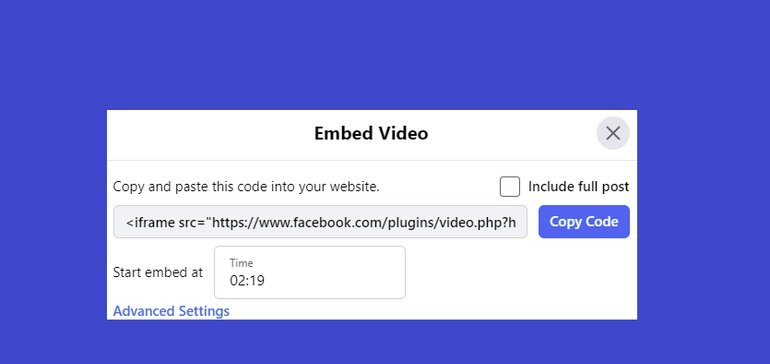 Facebook Now Enables You to Embed Facebook Videos at a Chosen Time in the Playback