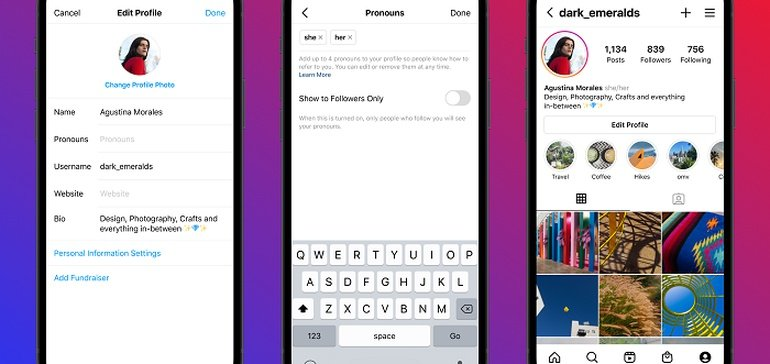 Instagram Adds New 'Pronouns' Option on User Profiles to Maximize Inclusion
