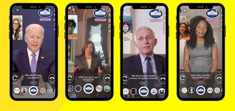 The White House Uses Snapchat To Provide Vaccine Information To Younger Audiences