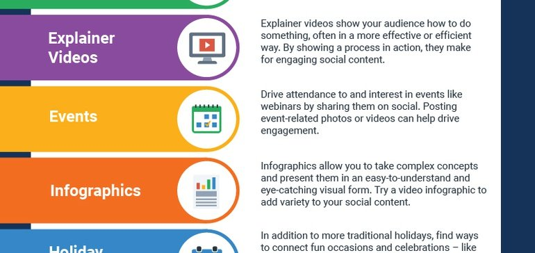 15 Types of Content to Post on Social Media to Keep Your Feed Fresh [Infographic]