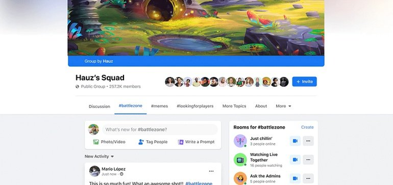 Facebook Launches New Gaming Fan Groups as Part of its Broader Push into the Gaming Space