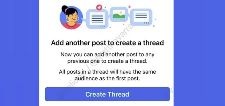 Facebook's Testing a New 'Threads' Option for Feed Posts