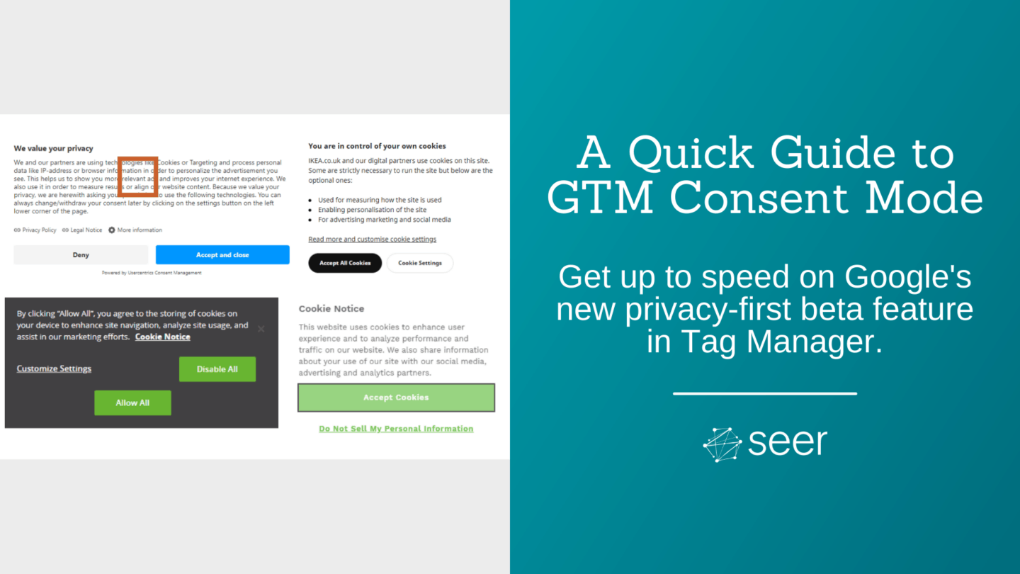 Introduction to Consent Mode in Google Tag Manager