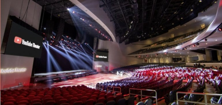 YouTube Opens 6,000 Seat 'YouTube Theater' Where it Will Host a Range of IRL Events
