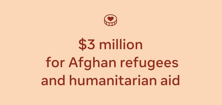 Facebook Announces $3 Million Donation for Afghan Refugees and Aid Organizations