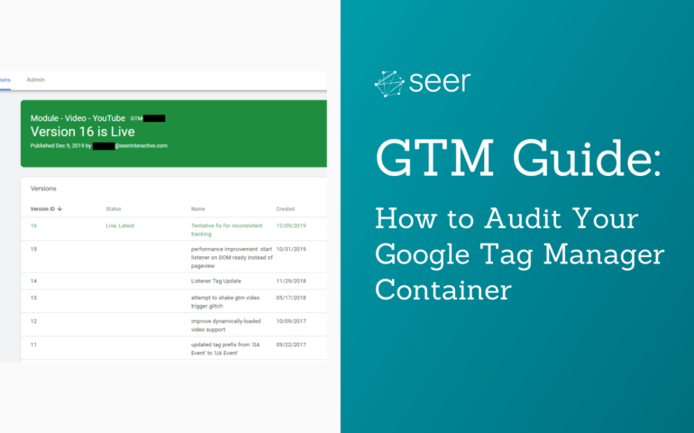 Google Tag Manager Guide: Container Audit